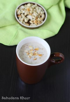 Sabudana kheer recipe | How to make sago kheer or payasam recipe