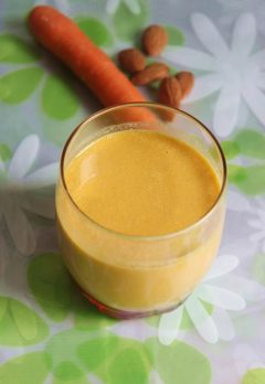 Almond Carrot Smoothie  recipe |  Carrot Almond Smoothie Recipe