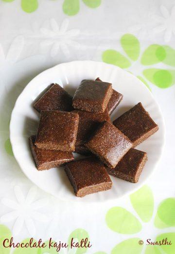 chocolate kaju katli recipe