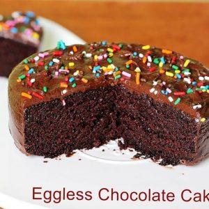 Eggless chocolate cake recipe | Moist and soft chocolate cake recipe