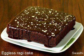 Ragi chocolate cake   Eggless ragi cake   Finger millet chocolate cake