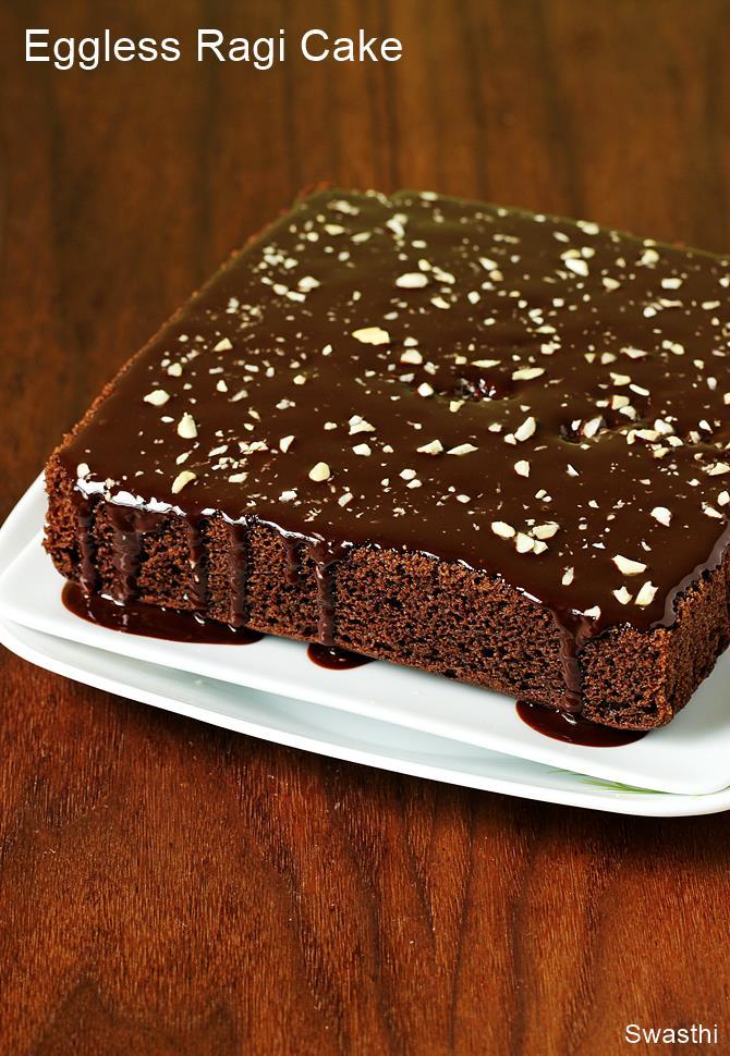 eggless ragi chocolate cake