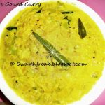 Ridge Gourd Curry with Sesame Seeds & Milk / Paluposina Beerakaya Nuvvu Pappu Kura