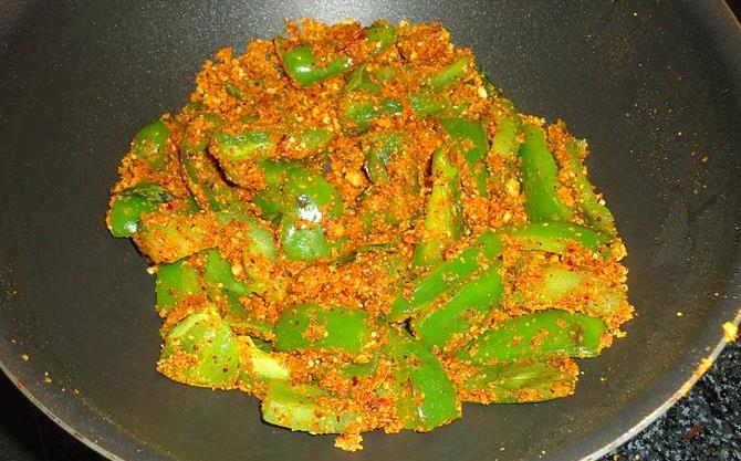 capsicum fry recipe step 3