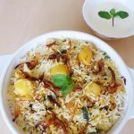 Aloo dum biryani recipe | How to make dum potato biryani recipe