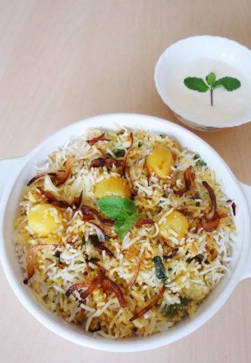 Aloo dum biryani recipe | How to make dum potato biryani recipe