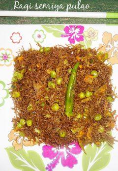 ragi semiya vegetable pualo recipe , Healthy Indian breakfast recipes
