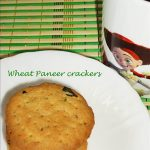 Wheat Paneer Crackers / Biscuit Recipe