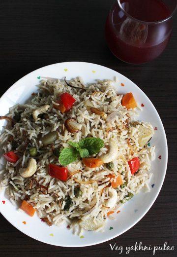 vegetable yakhani pulao recipe