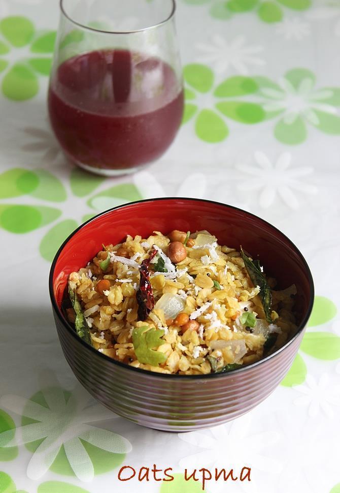 learn to make oats upma recipe
