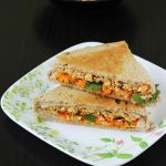 paneer sandwich recipe , how to make paneer sandwich