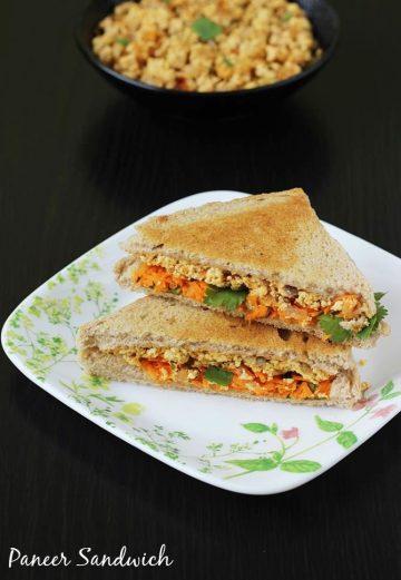 Paneer sandwich recipe   How to make paneer sandwich recipe   Sandwich recipes