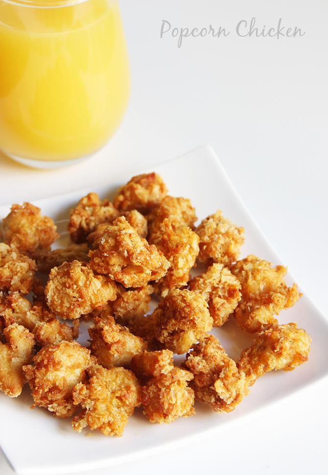 Popcorn Chicken Kids Style : Popcorn chicken recipe  how to make kfc style popcorn chicken