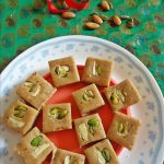 badam burfi recipe | almond burfi | no milk no blanch