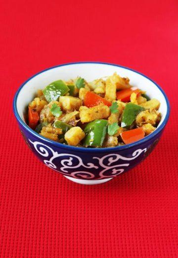 Aloo capsicum recipe   Dry aloo capsicum curry recipe