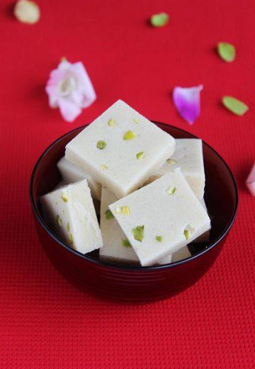 badam burfi without ghee and milk