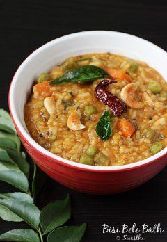 Bisi bele bath recipe | Karnataka style bisibelebath | Karnataka recipes