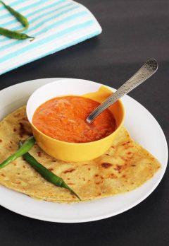 Red capsicum chutney recipe | Bell pepper chutney recipe