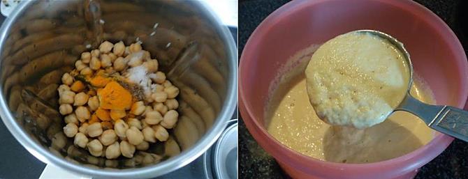 make the batter for chana dosa recipe