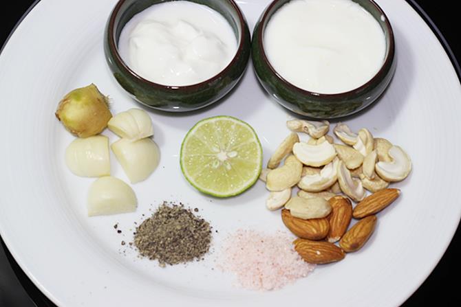 ingredients to marinate malai kabab recipe
