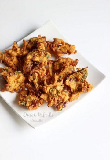 Onion pakoda or pakora recipe   How to make onion pakoda
