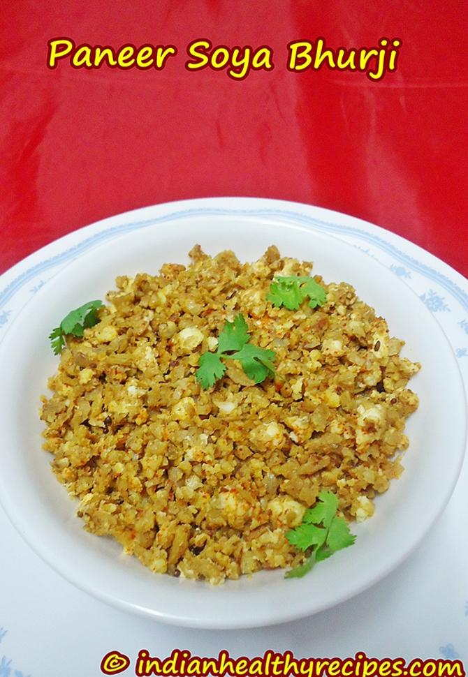 paneer soya bhurji recipe swasthis recipes
