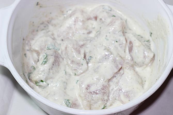 marinate meat to make reshmi kabab recipe