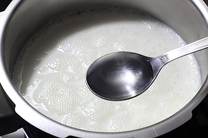 boiling milk for making chum chum recipe
