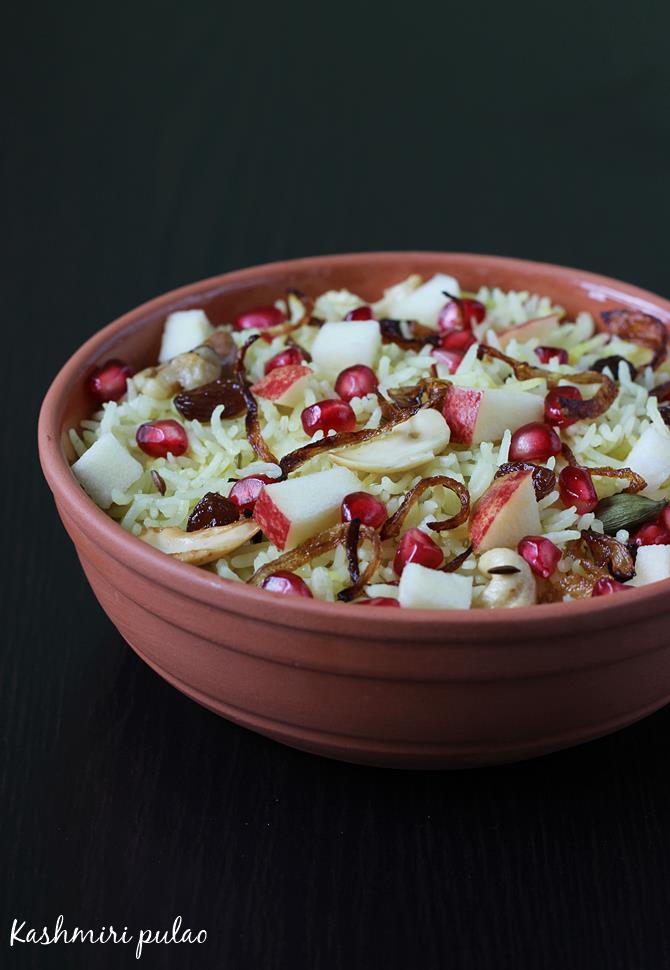 kashmiri pulao recipe swasthis recipes