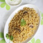 mushroom biryani recipe , how to make mushroom biryani | mushroom recipes