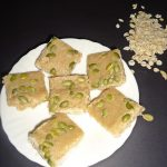 oats burfi recipe | oats fudge – vegan