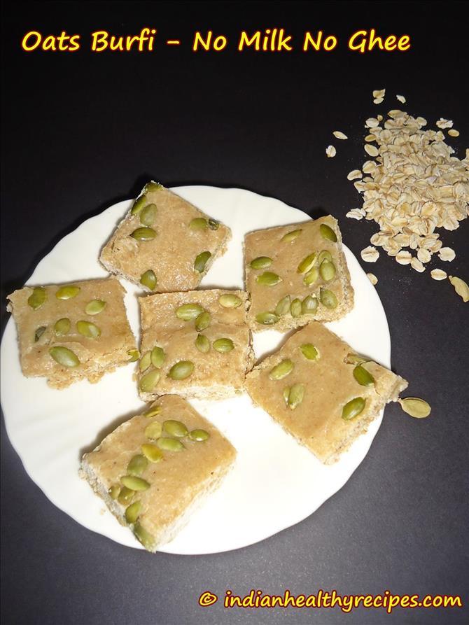 oats burfi recipe vegan