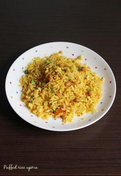 puffed rice upma recipe | borugula upma (uggani) | pori upma