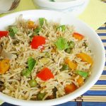 Vegetable biryani in pressure cooker recipe | How to make vegetable biryani