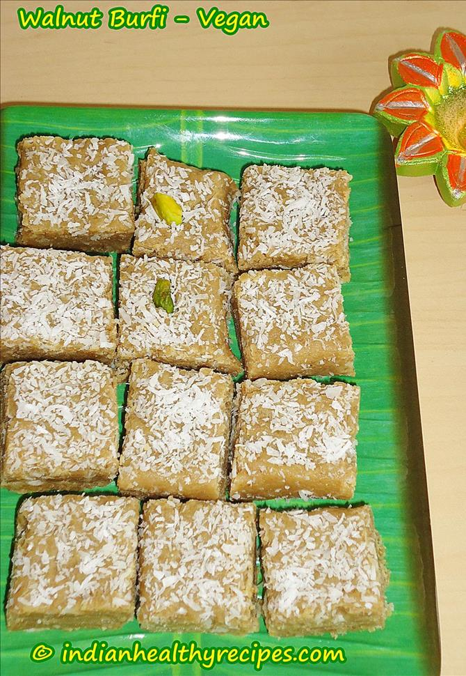 walnut burfi recipe vegan