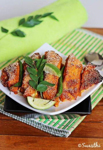 baked salmon , indian recipe
