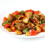 chilli mushroom stir fry recipe, how to make chilli mushroom dry