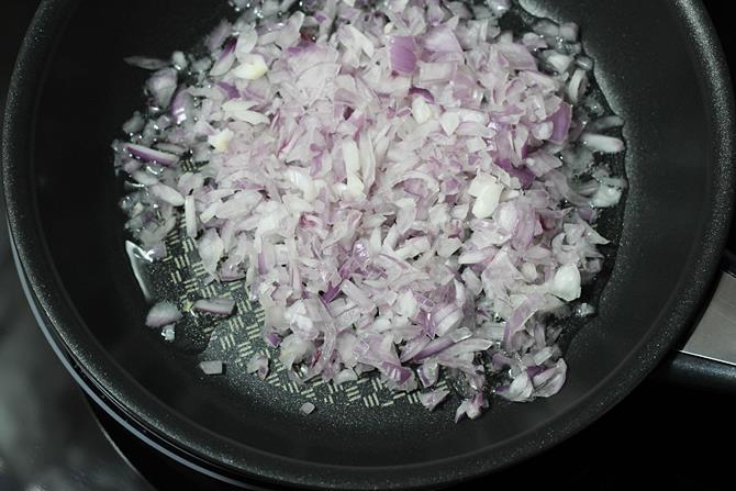 addition of onions for misal pav recipe