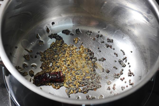 cumin mustard for making rasam recipe 02