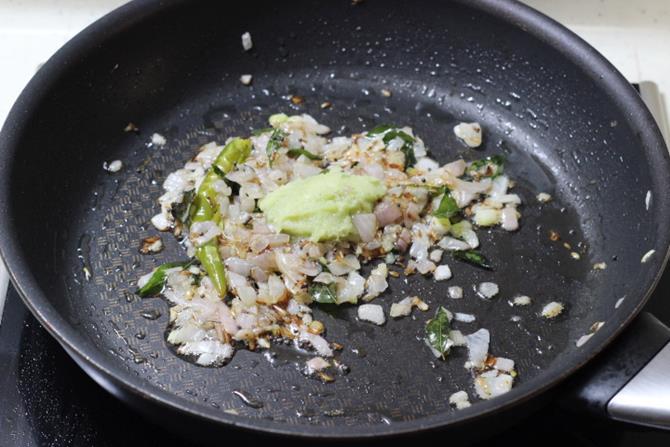 addition of ginger garlic paste