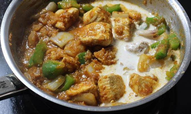 chicken karahi with naan