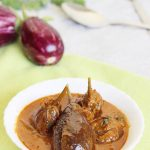 gutti vankaya kura or curry | stuffed brinjal curry | enne badanekai