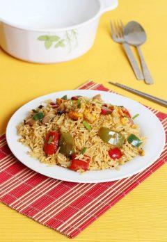 Chicken tikka fried rice recipe
