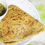 methi paratha (methi roti) , how to make methi paratha