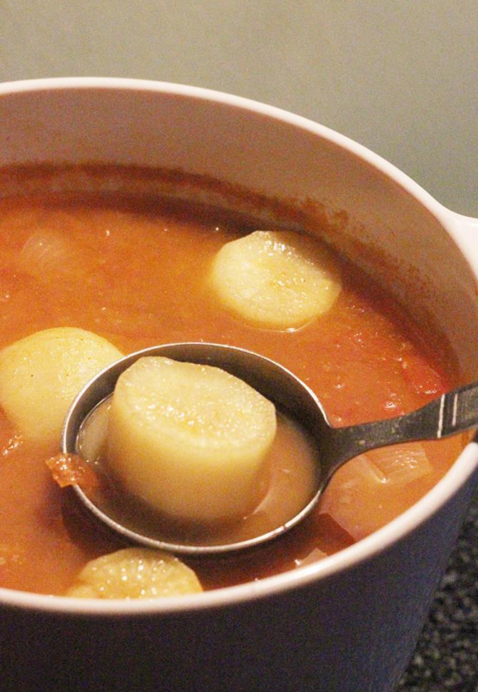 mullangi sambar, radish sambar recipe