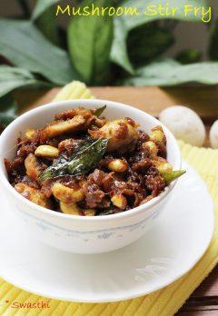 Mushroom curry recipe | Easy Mushroom stir fry recipe
