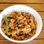 Aratikaya vepudu | raw plantain fry