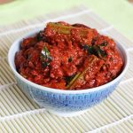 drumstick pickle |  andhra style mulakkada pachadi recipe