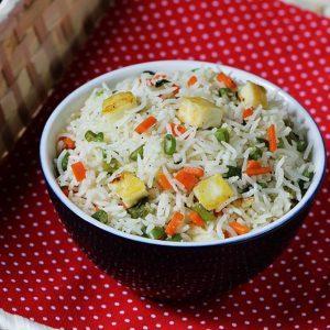Paneer fried rice recipe | How to make paneer fried rice