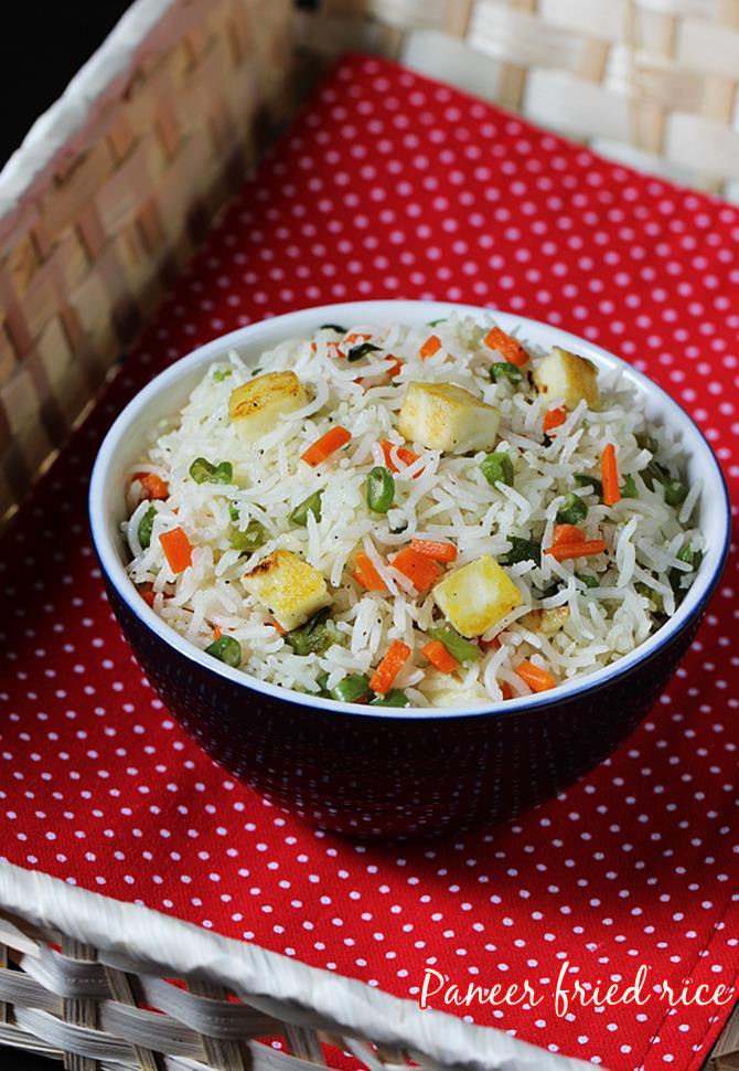 paneer fried rice recipe swasthis recipes